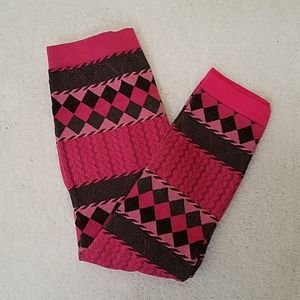 *5 For $20*One Step Up Pink/Black Pattern Leggings